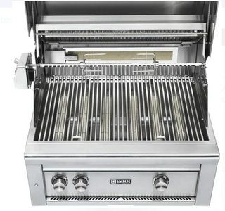 "LYNX 30"" PROFESSIONAL BUILT-IN GRILL WITH ALL TRIDENT INFRARED BURNERS AND ROTISSERIE (L30ATR) - JwGrills"