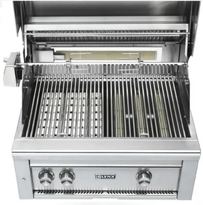 "LYNX 30"" PROFESSIONAL BUILT IN GRILL WITH 1 TRIDENT INFRARED BURNER AND 1 CERAMIC BURNER AND ROTISSERIE (L30TR) - JwGrills"