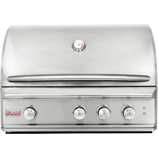 Blaze Professional 34-Inch 3 Burner Built-In Gas Grill With Rear Infrared Burner - BLZ-3PRO-LP/NG - JwGrills