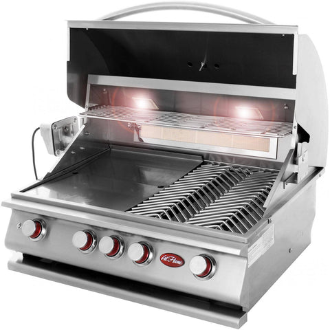 Image of Cal Flame P Series P4 Built-In 4-Burner - BBQ18P04 - JwGrills
