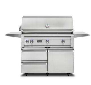 "VIKING 42""W. Freestanding Grill with ProSear Burner and Rotisserie - VQGFS5421 - JwGrills"