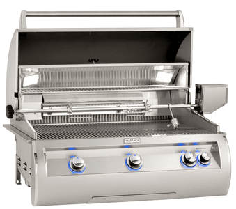 Fire Magic E790i Echelon Diamond Built-In Gas Grill Analog Thermometer with Window - E790I-8EAN-W - JwGrills