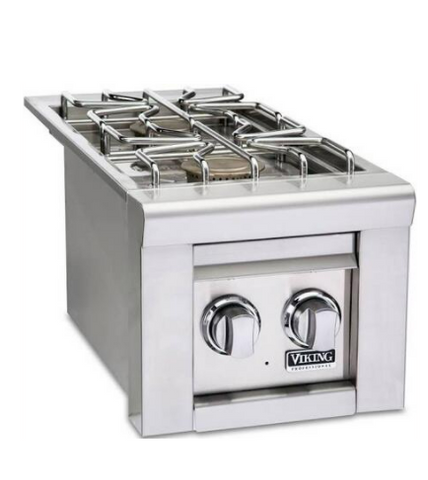"VIKING 13""W. Double Side Burners - VQGSB5131 - JwGrills"