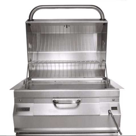 "Fire Magic Charcoal Legacy Slide In Barbecue Grill with 24"" Smoker Hood - 12-SC01C-A - JwGrills"