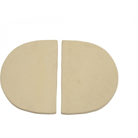 Image of Primo Ceramic Heat Deflector Plates For Oval XL 400 & G 420 - 324 - JwGrills