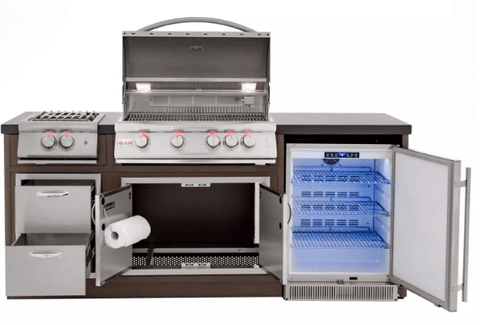 Blaze LTE BBQ Island With 32-Inch 4-Burner - BLZ-ISLAND-FULLPACKAGE-LP/NG Propane/Natural Gas Grill & Power Burner - JwGrills
