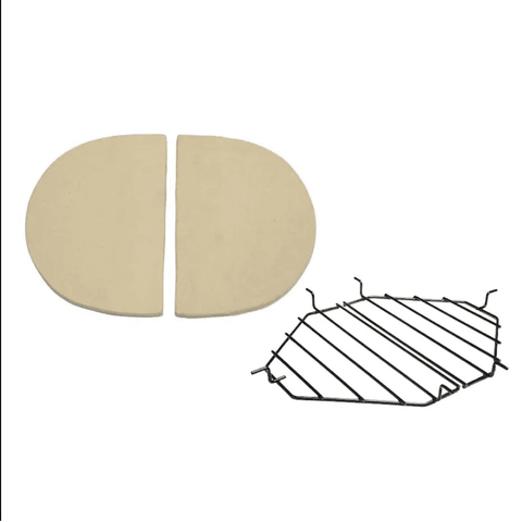 Primo Ceramic Heat Deflector Kit For Oval XL 400 Kamado - JwGrills