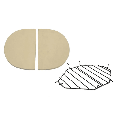 Primo Ceramic Heat Deflector Kit For Oval Junior 200 Kamado - JwGrills