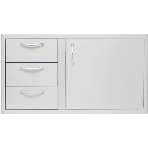 Blaze 39-Inch Stainless Steel Access Door & Triple Drawer Combo - BLZ-DDC-39-R - JwGrills