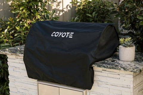 Image of Coyote 28″ Built-In Grill Cover  - CCVR2-BI-1 - JwGrills