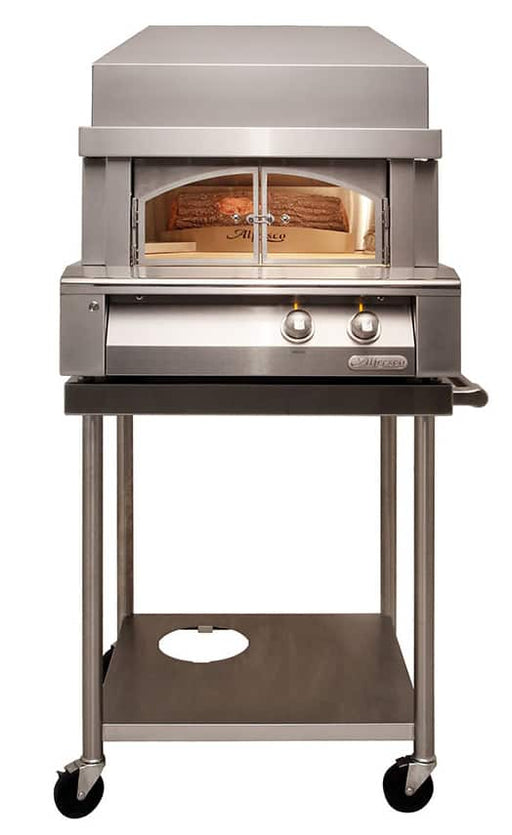 "Alfresco 30"" Pizza Oven Cart for Alfresco & Artisan - AXE-PZA-CART-01 - JwGrills"