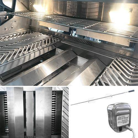 Image of Cal Flame Top Gun 5-Burner Convection Grill - BBQ18875CTG - JwGrills
