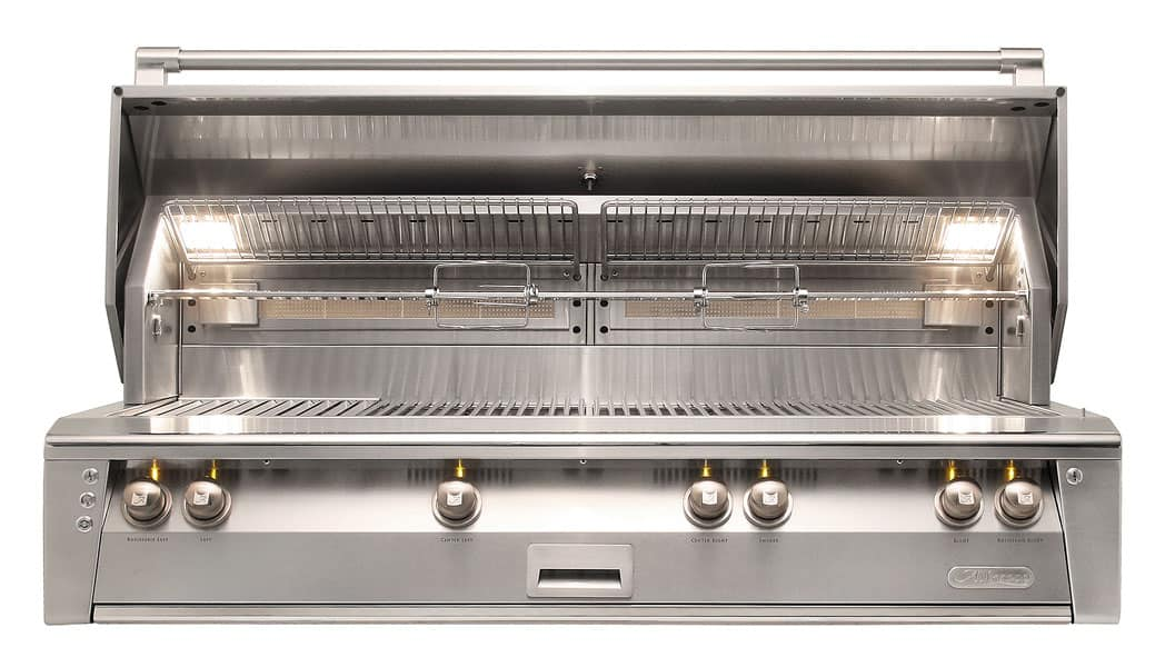 Alfresco ALXE-56BFG-LP 56-Inch Built-In Propane Gas All Grill With Sear Zone And Rotisserie - JwGrills