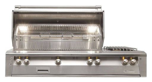 Alfresco ALXE-56-LP 56-Inch Built-In Propane Gas Deluxe Grill With Side Burner and Rotisserie - ALXE-56-NG - JwGrills