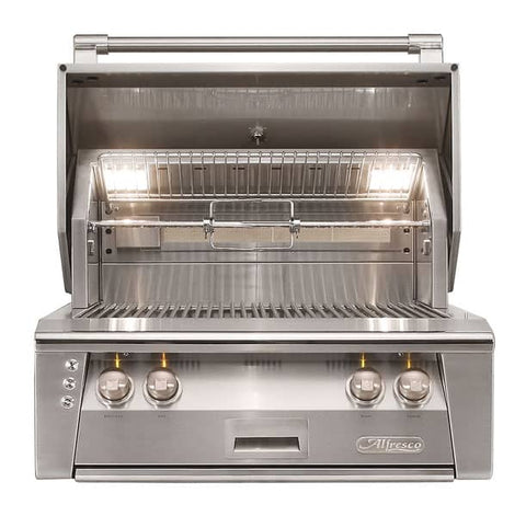 Alfresco ALXE-30-NG 30-Inch Built-In Natural Gas Grill With Rotisserie - JwGrills