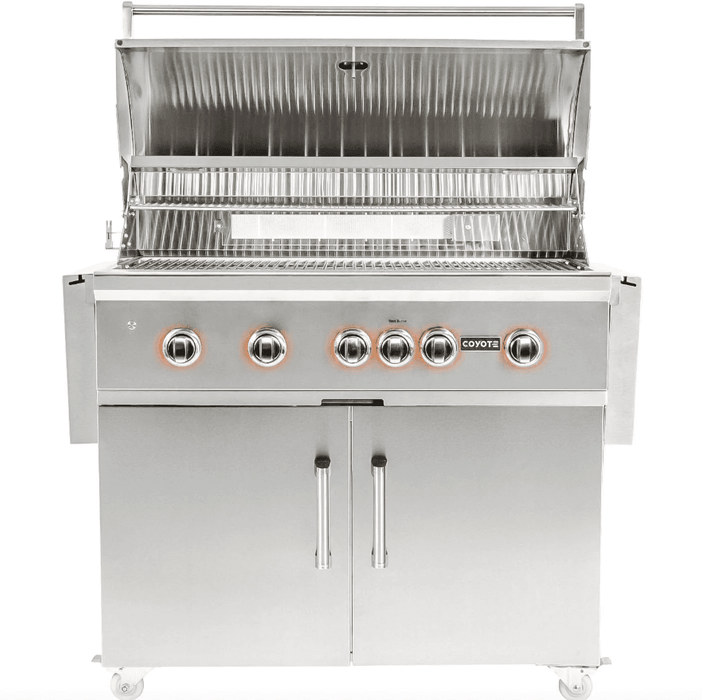 Coyote S-Series 42-Inch 5-Burner Built-In Natural Gas Grill With RapidSear Infrared Burner & Rotisserie - C2SL42LP - JwGrills