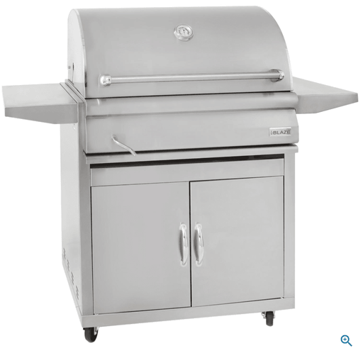 Blaze 32-Inch Built-In Stainless Steel Charcoal Grill - BLZ-4-CHAR - JwGrills