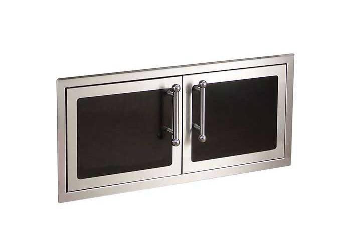 Fire Magic Black Diamond Double Doors (Reduced Height) with Soft Close System - 53938HSC - JwGrills