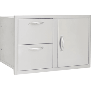 Blaze 32-Inch Access Door & Stainless Steel Double Drawer Combo - BLZ-DDC-R - JwGrills