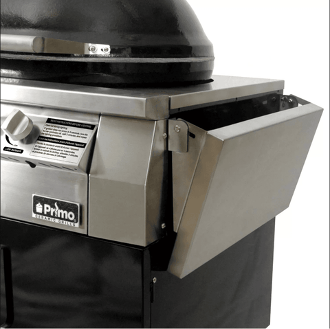 Primo Oval G420 36-Inch Ceramic 4-Burner Built-In Kamado Gas Grill - G420CH - JwGrills