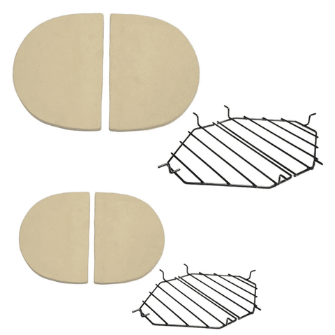 Primo Ceramic Heat Deflector Kit For Oval XL 400 & Oval Junior 200 Kamado - JwGrills