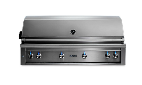 "Image of LYNX 54"" PROFESSIONAL BUILT-IN GRILL WITH 1 TRIDENT INFRARED BURNER AND 3 CERAMIC BURNERS AND ROTISSERIE (L54TR) - JwGrills"