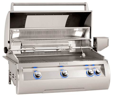 Image of Fire Magic E790i Echelon Diamond Built-In Gas Grill Analog Thermometer with Window - E790I-8EAN-W - JwGrills
