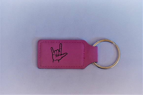 Leatherette Key Chain with