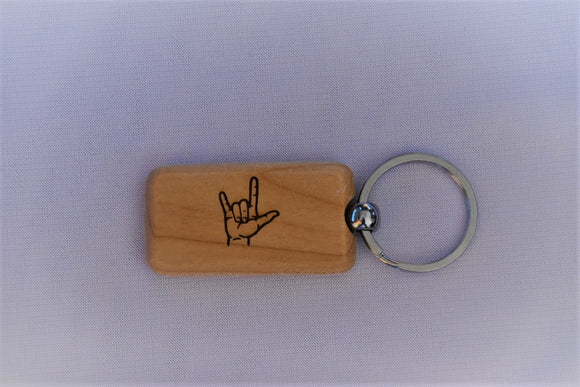 Maple Rectangle Key Chain with