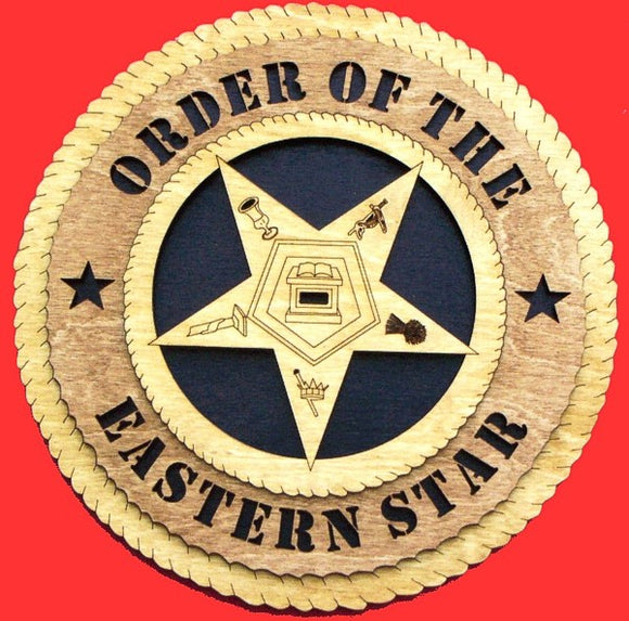 Generic Eastern Star 3D Tribute Plaque