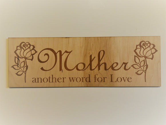 Mother another word for Love Sign