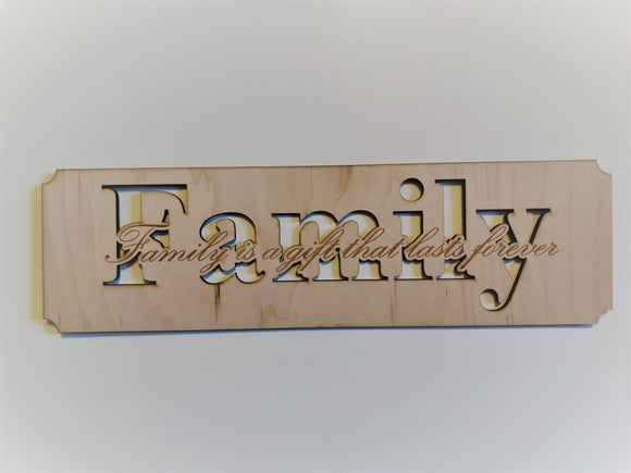 Smaller Family Sign