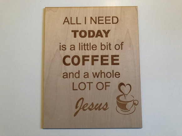 Coffee & Jesus Sign