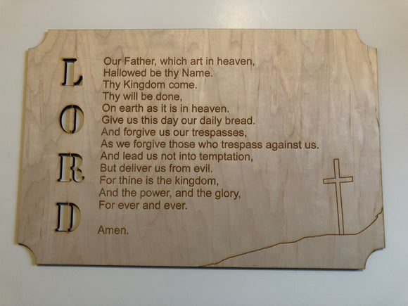Lord's Prayer Sign - Cut out Lord Letters