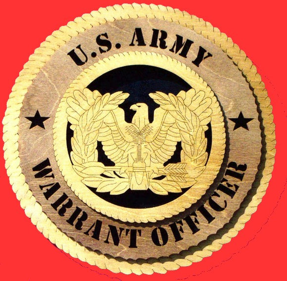 Generic Army Warrant Officer 3D Tribute Plaque