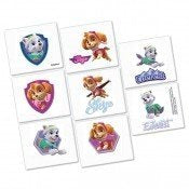 GIRL PUPS SKYE & EVEREST PAW PATROL Tattoo Favors Birthday Party Supplies