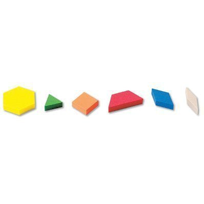 ETA hand2mind Foam Pattern Blocks ManipuLite Set of 27 Assorted Colors