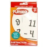 Playskool, Ages 3+  Subtraction  Flash Cards, 36 Cards
