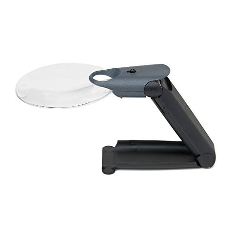 Carson FreeHand 2.5x LED Lighted Hand-Held or Hands-Free Magnifier with 5.5x Spot Lens (FH-25)
