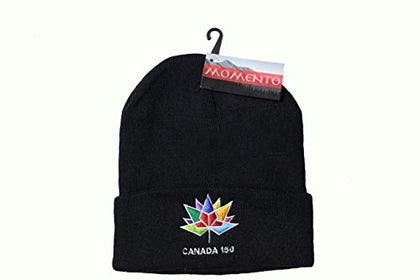 Canada 150 Year Anniversary 1867 - 2017 Colored Logo Black Toque Hat ..Momento.... New