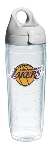 Tervis 1066769  Nba La Lakers  Water Bottle With Grey Lid, Emblem, 24 Oz, Clear