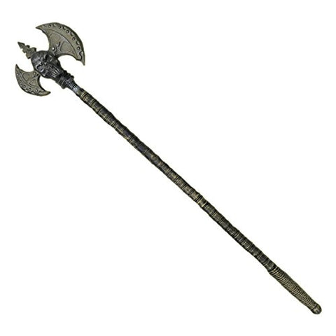 Skull Staff with Axe Costume Accessory/Prop