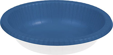 Creative Converting Touch Of Color 20 Count Paper Bowl, 20 Oz, True Blue