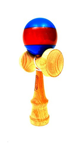 Standard Wooden Kendama by YoyoFactory Color Striped Blue Red