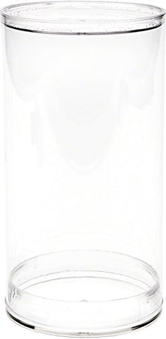 Plymor Plastic Action Figure Tube, 3  wide by 5.5  tall, with Clear Acrylic Base