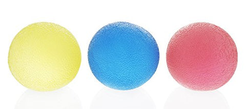 Stress Ball Set - Round Rubber Stress Relief Squeeze Ball, Hand and Finger Grip Strengthening, 3 Colors, 1.9 Inches in Diameter