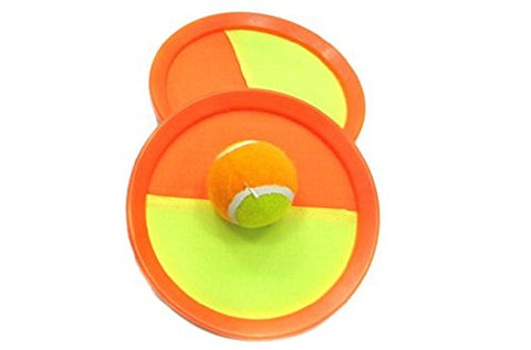 Paddle Ball and Toss Game Set- 7  Handheld Stick Disc - Orange!
