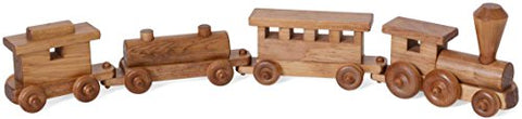 Gear Up Guide Wooden Train Toy, 4-Car