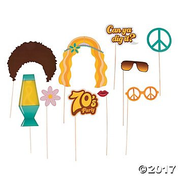 '70s Party Photo Props - 12 ct