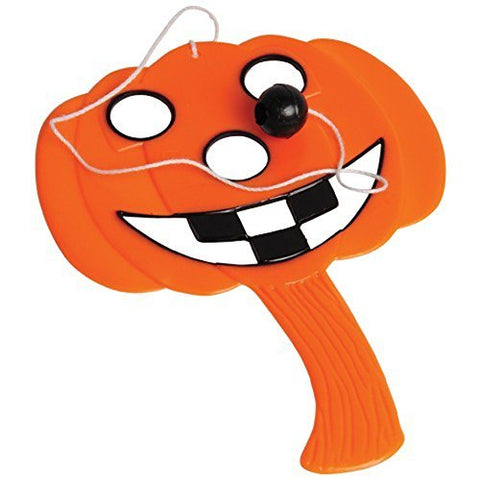 Lot Of 12 Halloween Pumpkin Jack O Lantern Design Mini Paddle Ball Games